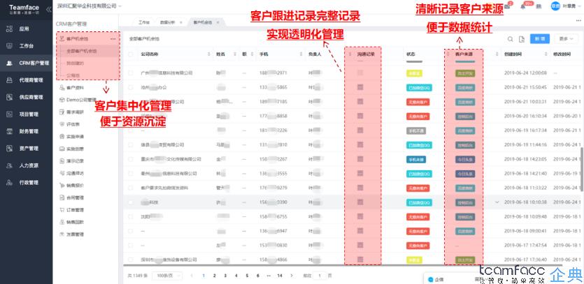 crm<a href=https://www.teamface.cn target=_blank class=infotextkey>客户管理系统</a>软件定制开发